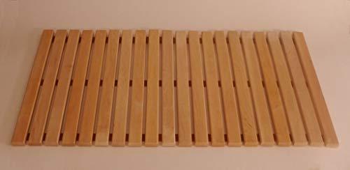 rollbarer Saunabodenrost 100x60cm Fußrost Bodenrost Bodenmatte Sauna Türmatte Rollrost FußmatteSaunabodenrost Fußrost Bodenrost Bodenmatte Sauna Türmatte Rollrost Fußmatte