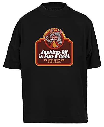 Hopestly Do What You Want God Is Fake Maglietta Larga Unisex da Donna Uomo Nera Cotone Organico Tee Baggy T-Shirt Unisex Black S