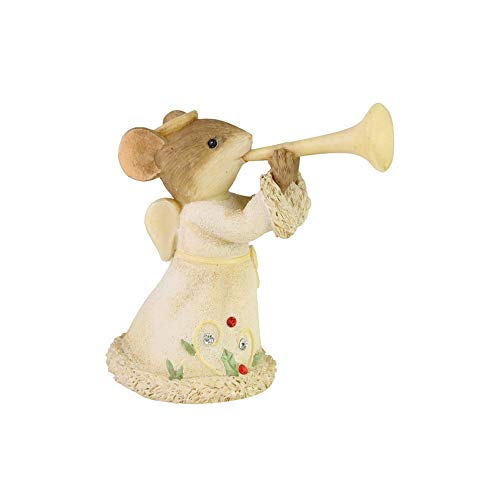 Enesco Tails with Heart Heralding Christmas Resin and Crystal, Figurine