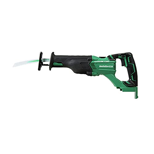 Metabo HPT Cordless Reciprocating Saw   Tool Only   No Battery   3-Mode Selector W/Auto Mode   Tool-Less Blade Changing System   Large Rafter Hook   Lifetime Tool Warranty   Brushless   CR18DBLQ4