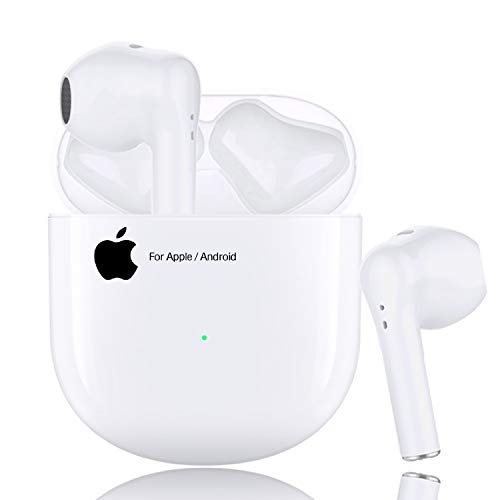 Wireless Earbuds Bluetooth 5.0 Earbuds Headset【24Hrs Charging Case】 3D Stereo Built in Mic Headphones Pop-ups Auto Pairing Fast Charging for Earphone Samsung iPhone Apple Airpods in Ear Ear Buds