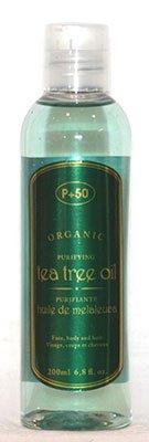 Huile d'arbre à thé 100% bio Huile pour le corps | Huile Anti pellicules | acné Peau | antibactérien | Huile pour cheveux par P + 50 200 ml – sans parfum