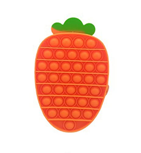 HERT Silicone Pencil Case Novelty Coin Purse Fidget Sensory Toy Stress Reilef Squeeze Toy for Adults Kids Birthday Gift Classroom Reward (Carrot, 18113.5cm)