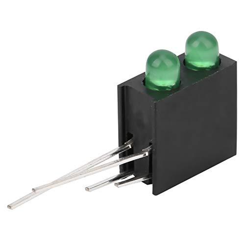 Weikeya Lámpara de diodo LED, diodo emisor de Agujero de Doble Orificio 0,06 W de plástico -20 ℃ -120