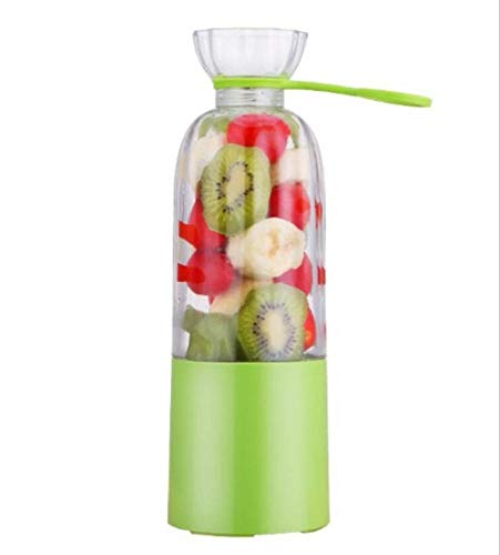Qinmo Juicer machines,Juicer Portable Home USB Electric Mini Small Fruit Milkshake Juice Cup Small Appliances (Color : Green)