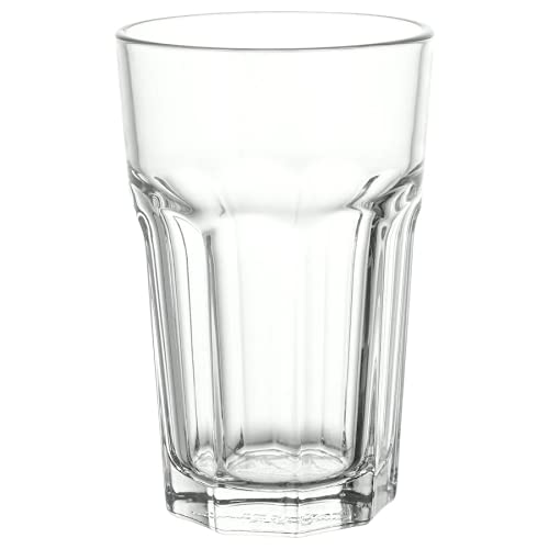 IKEA 6-er Set Gläser POKAL stapelbares Glas für Cocktail Longdrink Tee Kaffee Wasser - 350ml - 14cm hoch - spülmaschinenfest