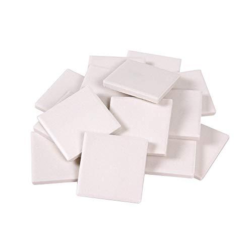 hand2mind - 46294 White Streak Plates, 2 Inch x 2 Inch x 1/6 Inch (Pack of 10)
