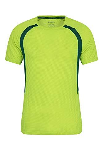Mountain Warehouse T-Shirt para Hombre Bryers IsoCool - Camiseta de Secado rápido, Top Transpirable, Ligero, de fácil Cuidado - Ideal para Ciclismo, Gimnasio, Exterior Lima XS