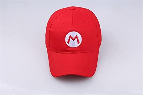 Sombrero de Super Mario Hip Hop Moda Super Mario sombrero gorro De algodón mujeres hombres viseras gorras de béisbol Snapback Gorras De Beisbol Casquette Homme niños lindo regalo