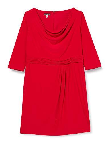 APART Fashion Damen APART Jerseykleid mit Wasserfallkragen Kleid für besondere Anlässe, rot, 48