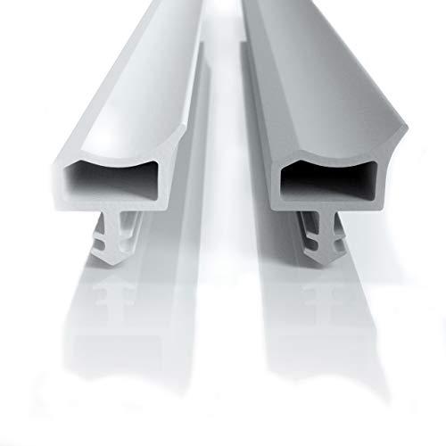 Premium Türdichtung für Zimmertüren gegen Zugluft, in weiß und grau perfekte Dichtung für deine Zimmertür (5m, grau)