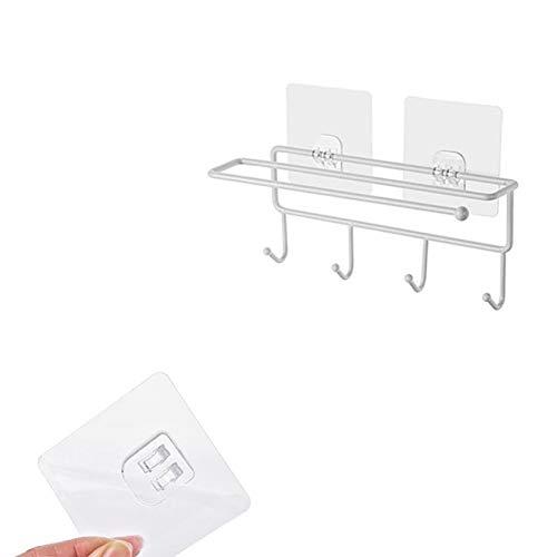 CHUITF keukenhulp, organizer, ijzeren opbergrek, badkamer, handdoeken, ophanger, rolpapierhouder, kast, hangen, plank, haak aan de muur