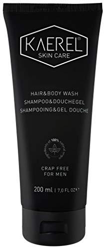 Kaerel soins de la peau pour hommes Nettoyant cheveux et corps 200ml - Tout naturel, Organique