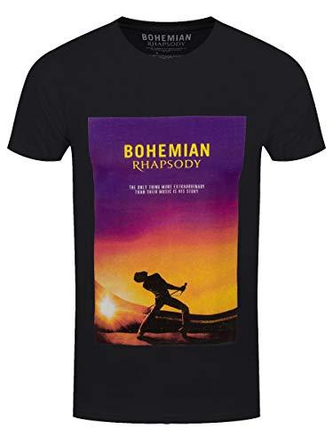 Rockoff Trade Queen Bohemian Rhapsody (Back Print) Camiseta, Negro (Black Black), X-Large para Hombre