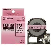 (まとめ) キングジム テプラ PRO テープカートリッジ カラーラベル(パール) 12mm 赤/黒文字 SMP12R 1個 【×5セット】 生活用品 インテリア 雑貨 文具 オフィス用品 ラベルシール プリンタ top1-ds-1581512-ah [簡素パッケージ品]