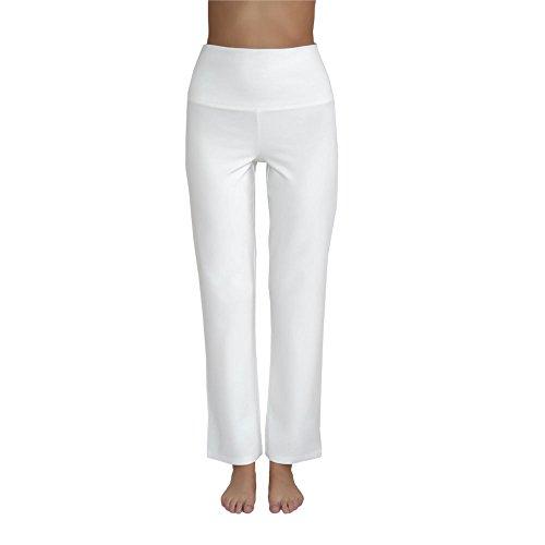Leela Cotton Damen Yoga-Hose Bio-Baumwolle/Elasthan, Natur, Gr. L