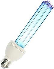 UV Kiemdodend Licht, Ultraviolet Kermicide Licht Lamp Desinfectie Sterilisator Doden Stofmijt, 20W E27 Schroef Base UVC Ozon Gratis Quartz Lamp, Sanitizer Ontsmetten Licht Kermicide Lamp