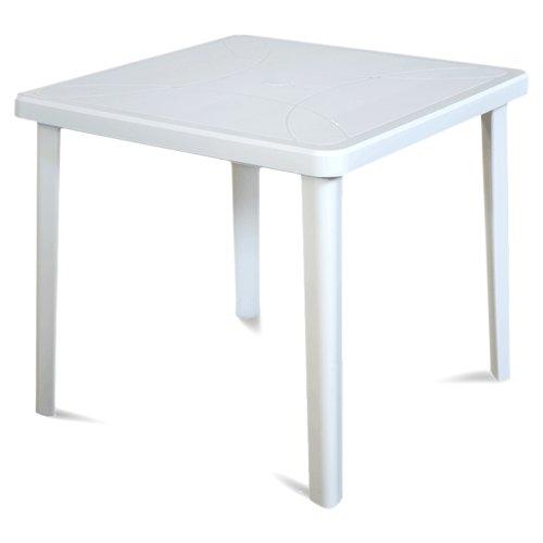 ARETA ARE027 Tavolo Nettuno, Bianco, 80 x 80 x 72 cm