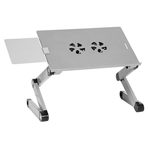 balikha Portable Adjustable Aluminum Laptop Desk Stand Table Vented - Silver