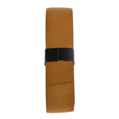IPOTCH Pallet di Tennis in Nastro con Cinturino in Pelle Sintetica per Pallets Ping-Pong - Marrone Chiaro