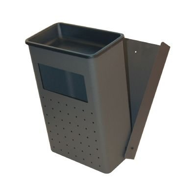 SIE 741415 Cenicero para Papelera de Pared, Exterior, Metal, Plata
