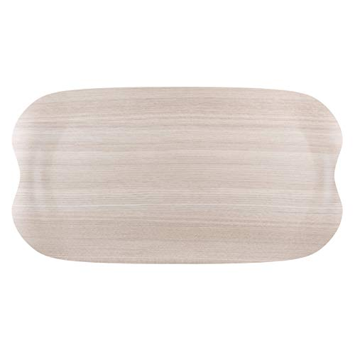 Visiodirect Plateau Wave Naturel Lightwood - 43 x 23 cm