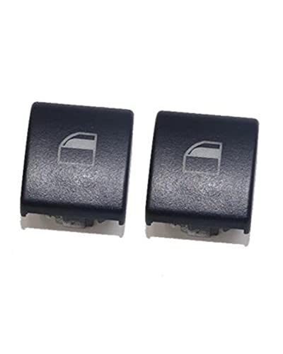 ACD Cubierta del Interruptor de la Ventana Fit For BMW Serie 3 E46 (X5 X3) Tapas de la Cubierta de la Consola del Interruptor del botón de la Ventana eléctrica(Color:2pcs)