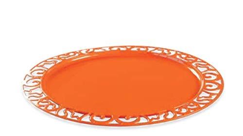 Adiserve 4 sous-Assiettes Rondes 30 cm Orange réutilisables