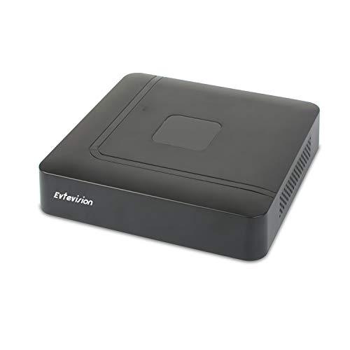 Evtevision 10 Canales NVR UHD 4K/5MP/4MP/3MP/1080p IP Grabadores de Vigilancia,Soporte Vista Remota/Alertas de Movimiento Inteligente,para Sistema de Seguridad en el Hogar(Sin HDD)