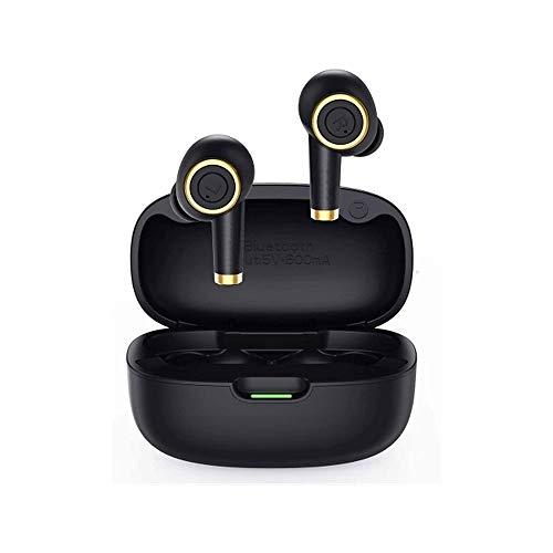 LKNJLL Auriculares inalámbricos, auriculares Bluetooth en la oreja con sonido de bajos perforados, auriculares inalámbricos de control preciso, auriculares de Bluetooth impermeables IPX6, 20 horas Ear