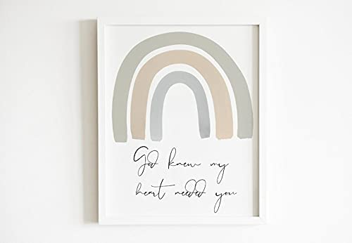 VinMea Sale SALE% OFF Wooden Framed Signs Printable W Now free shipping Art Nursery Rainbow Baby