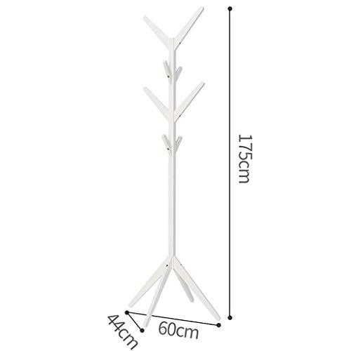 Zcx Porte Manteau En Bois Massif En Bambou 8 Patères 4 Hauteurs Différentes Capacité 20 Kg Adapté Au Portemanteau Color White