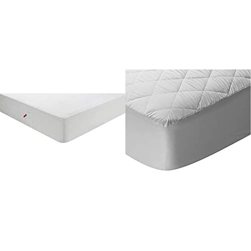 Pikolin Home - Funda de colchón antichinches, Impermeable y Transpirable + Home - Protector de colchón/Cubre colchón Acolchado, Impermeable, antiácaros, 200x200cm-Cama 200 (Todas Las Medidas)