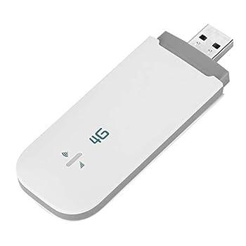 4G LTE USB Modem Unlocked Pocket Wireless USB Network Adapter WiFi Router Network Hotspot with SIM/TF Card Slot Support 4G FDD B1/B3/B5 TDD B38/B39/B40/B41 for PC Desktop Laptop
