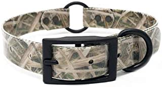 Camo Waterproof Hunting Dog Collar with Heavy Duty Center Ring   for Small, Medium, Large, or XL Dogs
