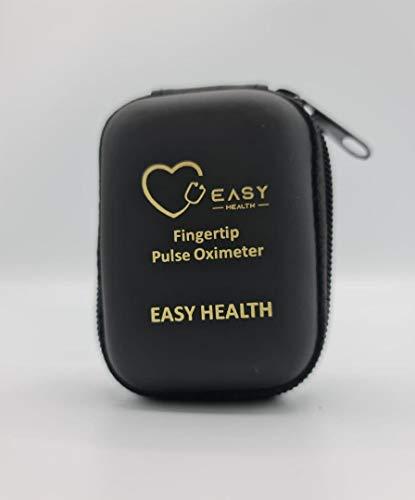 Estuche Duro EASY HEALTH, Bolsa Protectora y Almacenamiento Pulsioxímetro de Dedo, Oxímetro Ligero, Duradero, Funda de Viaje