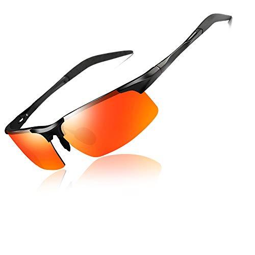 BSET BUY Sportbrille Radsportbrille Polarisierte Sport-Sonnenbrille Titanium Alloy UV 400 Protection Leichtgewicht Herren Damen Angeln im Freien Fahren Brille