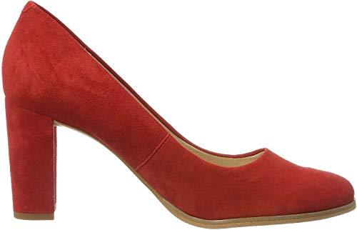 Clarks Damen Kaylin Cara Pumps, Rot (Red Suede), 38 EU