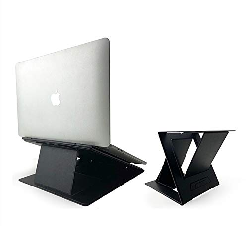 MOFT Z ノートパソコンスタンド ノートPCスタンド PCデスクワークに対応 お手軽にスタンディングワークを実現 テレワークや在宅勤務に最適 折りたたみ 収納時の薄さ1.5cm 耐重10kg 軽量890g 多角度調節 簡単に切替可能 17インチまで対応 (ブラック)