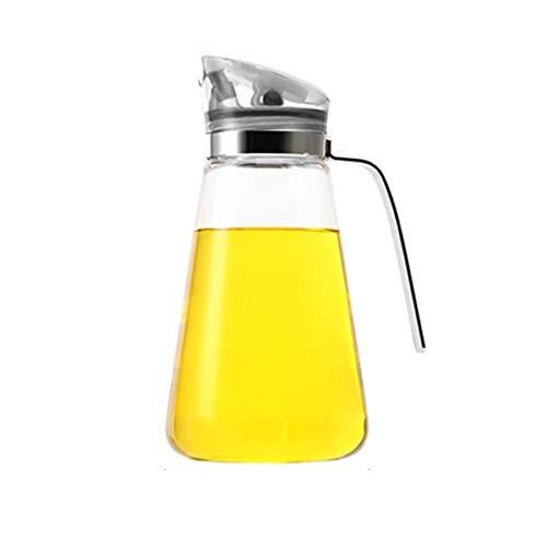 Zhiyangmaoyi 家庭キッチン用ガラスオイルボトルオイルポット醤油ボトル酢ボトルドレッシングボトル漏れ止め防塵550ミリリットル白