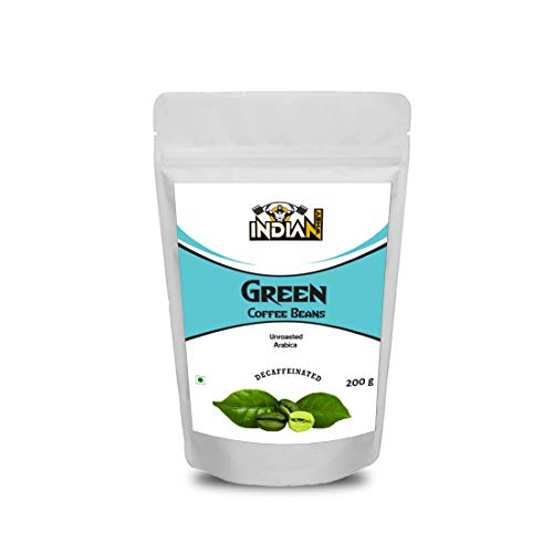 Indian Whey Pure Unroasted Green Coffee Bean Support Weight Loss and Natural Immunity Booster, Supports Metabolism and Weight Management, 200g