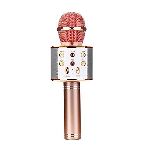 N / B Micrófono de Karaoke Bluetooth inalámbrico, Altavoz de micrófono de Mano portátil 3 en 1, para Todos los teléfonos Inteligentes, niños y Adultos de cumpleaños de la Fiesta Familiar
