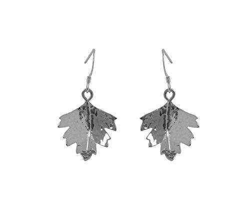 Claire Hawley (Handarbeit Sterling Silber silber Hawthorn Tree Leaf Ohrringe
