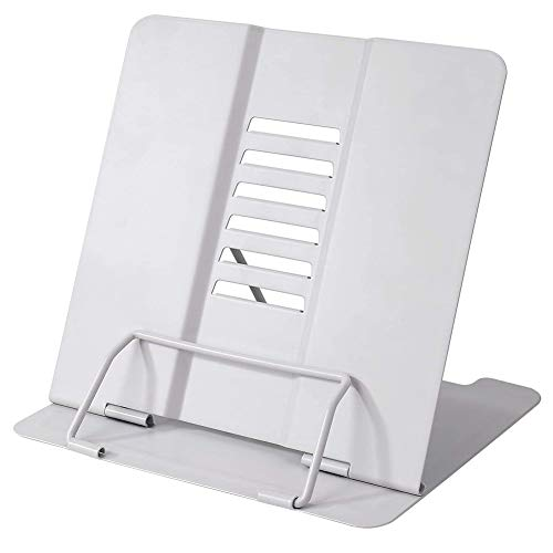 Traciya Soporte de lectura, portátil, 6 niveles, soporte ajustable para libros de recetas para leer, cocina, tableta, libros de música, soportes y soportes