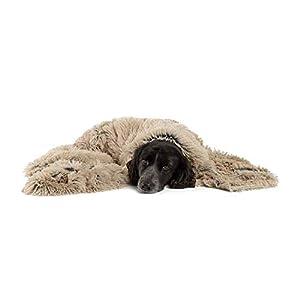 Best Friends by Sheri Luxury Shag Dog & Cat Throw Blanket 40×50, Taupe, Matching Donut Shag Cuddler Bed, Multi-Use, Mat, Sofa Cover, Warming (PTB-SHG-TAU-4050)