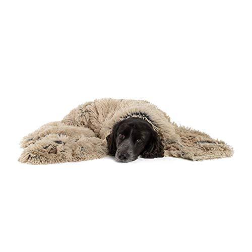 Best Friends by Sheri Luxury Shag Dog & Cat Throw Blanket 40x50, Taupe, Matching Donut Shag Cuddler Bed, Multi-Use, Mat, Sofa Cover, Warming (PTB-SHG-TAU-4050)