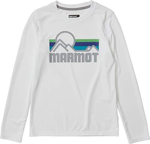 Marmot Windridge T-Shirt à Manches Longues pour Enfant Blanc Taille S