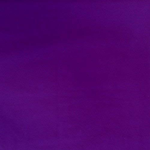 "Broadcloth Cotton Polyester Fabric by The 1 Yard, 5 Yard, 10 Yard, 15 Yard and 20 Yard Increment, 45"" Width, All Colors (Purple, 1 Yard)"