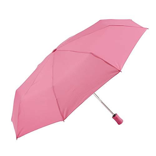 EZPELETA Paraguas Plegable antiviento de Mujer, Abre-Cierra automático con puño Recto. Tejido...