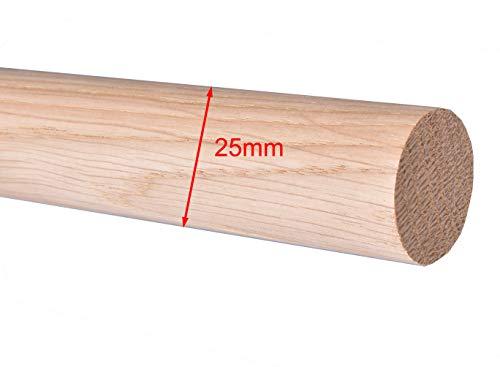 Rundstab Rundholz Eiche Treppensprosse Durchmesser 25mm (Ø 25mm)